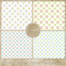 Flower Power Paper Layered Templates 2 by Josy