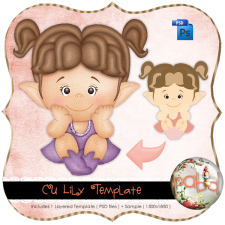 Lily Layered Template by Peek a Boo Designs