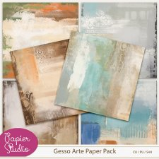 Gesso Arte Paper Pack EXCLUSIVE by PapierStudio Silke