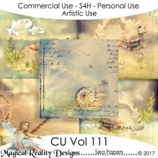 Sea Papers - CU Vol 111 by MagicalReality Designs
