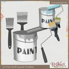 Paint Stuff ~ Layered Templates EXCLUSIVE by Kristmess