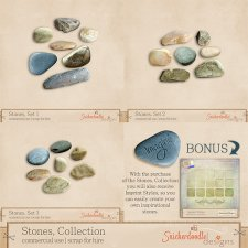 Stones Collection by SnickerdoodleDesigns