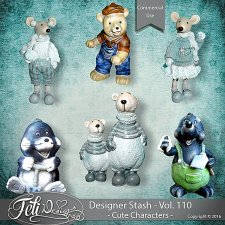 Designer Stash Vol 110 Cute Characters - by Feli Designs
