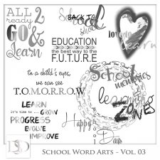 School Word Arts Vol 03 by D's Design