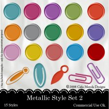 Metallic Style Set 2 by Cida Merola