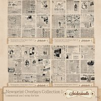 Newsprint Overlays Collection