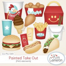 Painted Take Out by Kim Cameron