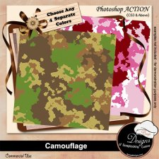 Camouflage PAPERS by Boop Designs