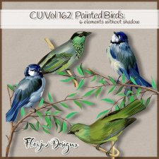 CU vol 162 Oil Painted Birds by Florju Designs