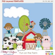 Fun on the Farm Element Templates