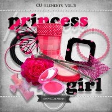 Pink princess elements vol3 by Graphic Creations