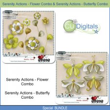 Serenity Actions - Butterfly & Serenity Actions - Flower Combo