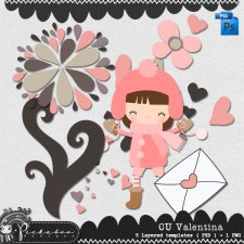 Valentine Love Layered Template by Peek a Boo Designs