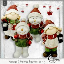 Vintage Christmas figurines CU - 3 by Cajoline-Scrap