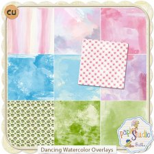Dancing Watercolor Overlays EXCLUSIVE by Papierstudio Silke