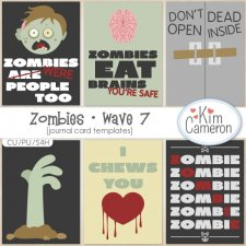 Zombies- Wave 7 Layered Templates by Kim Cameron