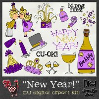 New Year! CU clipart