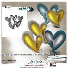 Hearts 01 - Templates by Eirene Designs