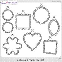 Doodles Frames 02 CU by Giane Designs