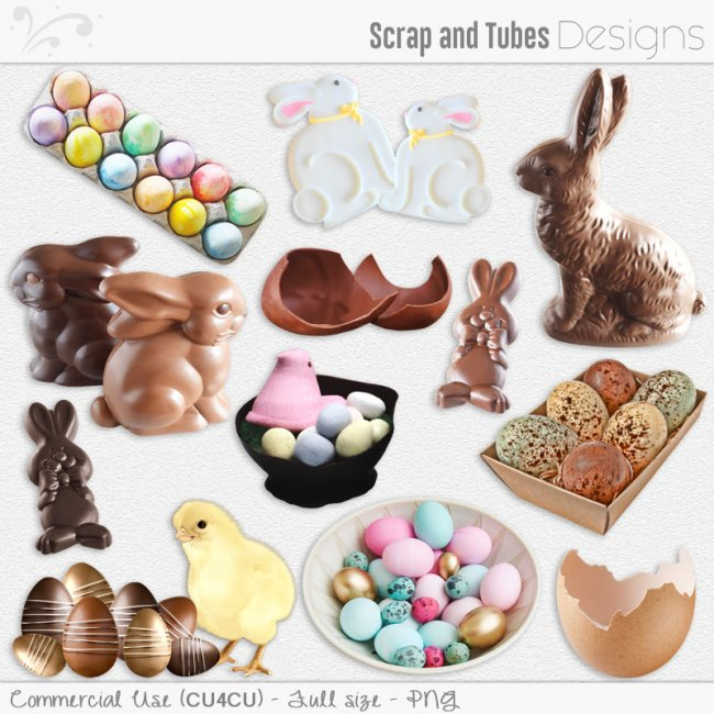 Easter Elements 2 (CU4CU) by Scrap and Tubes