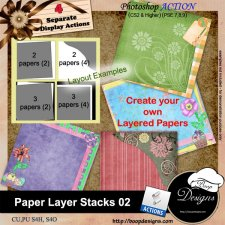 Paper Layer Stacks ACTION 02 by Boop Designs