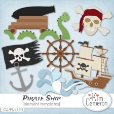 Pirate Ship Templates by Kim Cameron