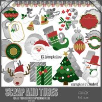 Christmas Mix Templates CU4CU by Scrap and Tubes