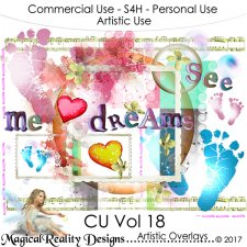 Artistic Overlays - CU Vol 18 by MagicalReality Designs