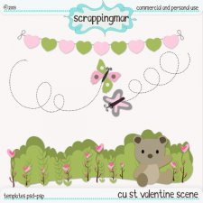 St Valentine Scene Layered Template by ScrapingMar
