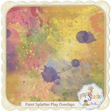 Paint Splatter Play Overlays EXCLUSIVE by PapierStudio Silke