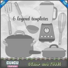Kitchen Templates 4 CU4CU by Scrap and Tubes