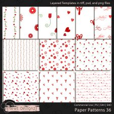 EXCLUSIVE Layered Paper Patterns Templates Set 36 by NewE Designz