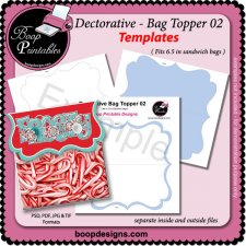 Decorative Bag Topper 02 TEMPLATE by Boop Printable Designs