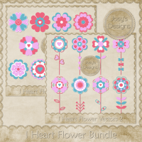 I Heart Flower Bundle by Josy Carson