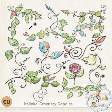 Kalinka Greenery Doodles EXCLUSIVE by PapierStudio Silke