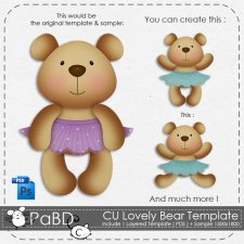 Lovely Bear Layered Template by Peek a Boo Designs