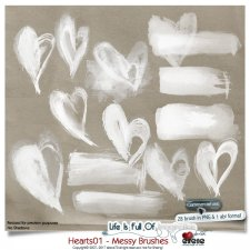 Hearts 01 - Messy Brushes by Eirene Designs