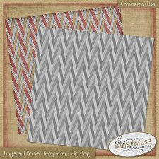 Layered Paper Template - ZigZag