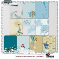 Blue Christmas2 Journal Cards