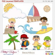 Beach Boys Layered Element Templates