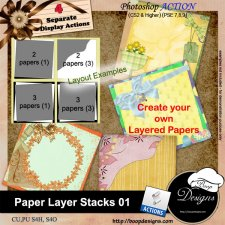 Paper Layer Stacks ACTION 01 by Boop Designs
