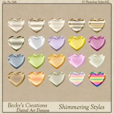 Shimmering Photoshop Styles -ASL-Beckys Creations