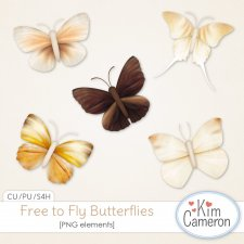 Free to Fly Butterflies by Kim Cameron