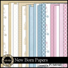 New Born papers by Happy Scrap Arts