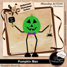Pumpkin Man ACTION by Boop Designs