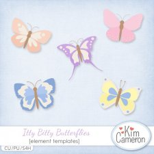 Itty Bitty Butterflies Templates by Kim Cameron