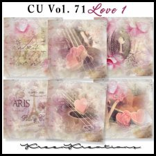 CU Vol. 71 Papers Pack Love 1 by Kreen Kreations