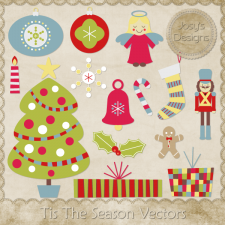 Tis The Season Layered Vector Templates - CU by Josy