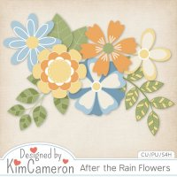 After the Rain Flowers Templates