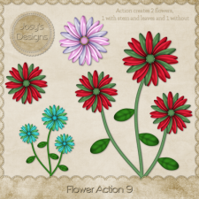 Flower Action 09 by Josy